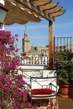 Vistas restaurante El Mirador de Sevilla Vincci La Rábida 4* (Sevilla)