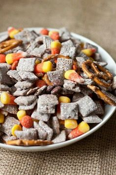 Halloween Muddy Buddy Mix (aka Puppy Chow) Yep, easy enough. :D I make some KILLER puppy chow.
