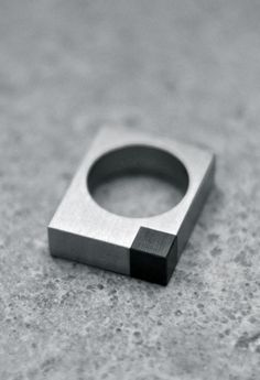 Alexey Cherkasov   Titanium Minimalist Square Ring