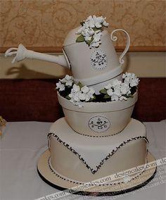 Flower pot cake by Design Cakes, via Flickr Decoration Gateau Flower, Awesom Cake, Design Cake, Cake Wedding, Pot Cake, Specialty Cakes, Flower Pots