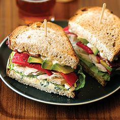 Fast & Fresh brown-bag lunches | Chicken, Bacon, and Blue-Cheese Sandwiches | Sunset.com