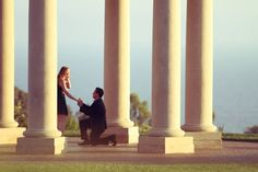 The best moment of this soon-to-be bride's lifetime in the Rotunda at Pelican Hill | www.pelicanhill.com |The Resort at Pelican Hill, Newport Beach, CA | #pelicanhill #engagement #memories
