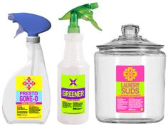 Free printable cleaning labels for home-made cleaning products