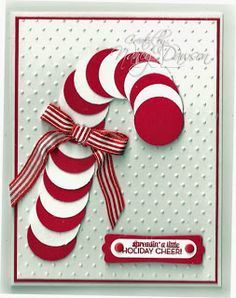 Candy cane made from