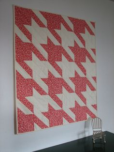 Quilted Wall Hanging Small Baby Quilt Pink by CentralFabrications