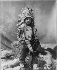 James Spotted Elk, Sioux Indian boy. ca1900