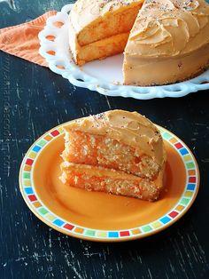 Orange Poke Cake - Orange flavored cake, orange gelatin and orange buttercream. A triple treat for any orange lover.