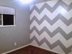 How to paint a chevron wall