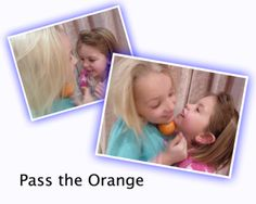 PASS THE ORANGE:  This all time fave is good for kids or family parties, but also for sleepovers, birthday parties, and anyone up for a bit of fun.   Get Ready  Get an orange and sit everyone in a circle, or stand in a line.  Go