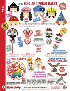 Ideas for Purim hats and masks