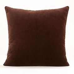Chocolate Brown Velvet Throw Pillow   World Market
