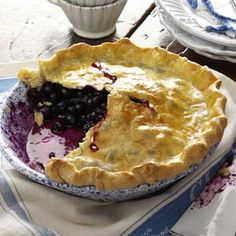 Blueberry Pie with Lemon Crust Recipe from Taste of Home