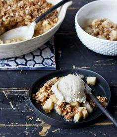 Gingerbread Pear Crumble from OATrageous Oatmeals by Kathy Hester on Beard and Bonnet