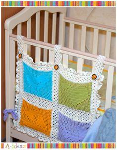 Pockets for baby's room    #crochet_inspiration