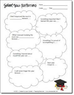 Corkboard Connections: School Year Reflections Printable (Freebie)