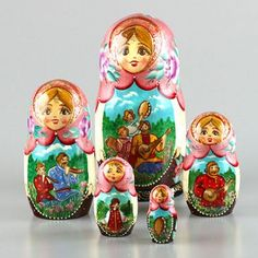 Russian Summer Fun Nesting Dolls