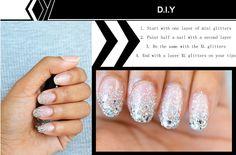 Glitter Ombre Nail DIY