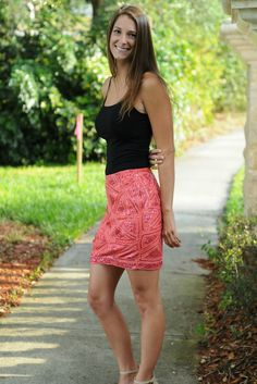 SEQUINS TO BREAKFAST Sequin Coral Pencil Skirt Shop Simply Me Boutique – Simply Me Boutique