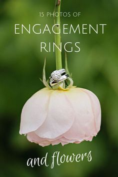 Want to capture your engagement ring flawlessly? Flowers make for the perfect backdrop – here are 15 photos to show you what we mean.   Photo by Paperlily Photography