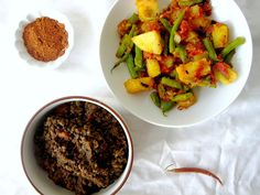 I want to try this! Ethiopian Lentil Stew and Ethiopian Green Beans and Potatoes