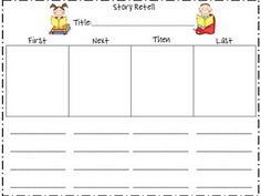 Story Retell   via first grade fanatics