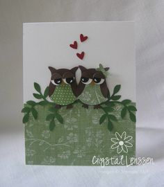 Crafting & Rambling: Owl Love You Forever owl punch, valentine day, owl crafts, owl card, desktop, homemade cards, engagement cards, anniversary cards, owls