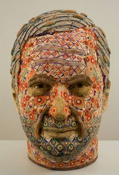 Pic: Recycled Wood Portrait Sculptures