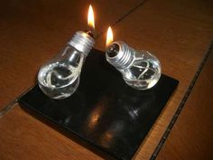 Light bulb oil lamp