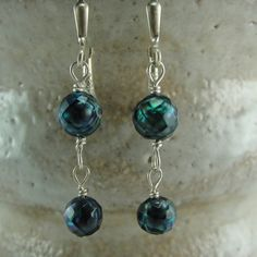 Coupon Code  Faceted Pearl Dangle Earrings by by ScreamingPeace, $20.00