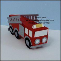 Life Savers Box - fire truck - punch art - bjl