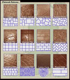 Patterns- Stamped Concrete