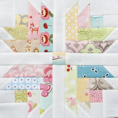 Modern Tradition Block for Norma BY Rachel Barsness / Rachel-B @ Flickr: Modern Tradition Quilt Bee Group...