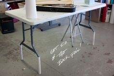 Brilliant Table Mod - Stops the Back Pain...ADD PVC TO LEGS.