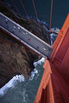 san francisco california, point of view, golden gate bridge, the view, the bridge