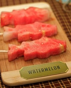 We love these watermelon fish pops for a fishing birthday party