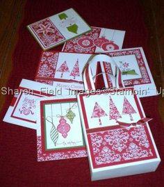 Christmas One Sheet Wonder Tutorial wonder card, craft, templat, osw, stampin, christmas, gift bag, septsharesp 086, one sheet wonders