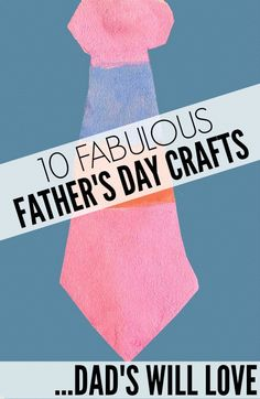 Struggling to find the perfect gift idea for dad this Father's Day? Look no further! I have you covered with this list of 10 fabulous Father's Day crafts dads will love!