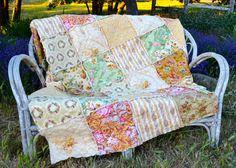 Shabby Chic French Garden Queen Rag Quilt by SeasonOfTheStitch, $498.00