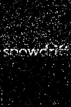 snowDrift ($0.00) Draw, Play, Share! use the FREE snowdrift app to create beautiful swirling snowy messages you and your friends can play with. Snowdrift uses an advanced particle system to create the mesmerizing effect of falling snow.