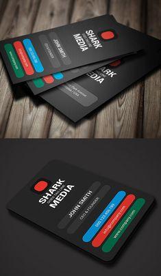 Color Business Card #businesscards #businesscardtemplates #printready #corporatedesign