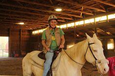 Lisa King horsing around on the farm. #FarmKings