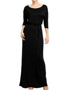 Belted maxi dress from Old Navy. Waiting for this to arrive for fall - planning to pair with a camel colored belt and scarf for work. maxi dresses, fashion, cloth, belt maxi, women belt, jersey maxi, maxis, belt jersey, old navy