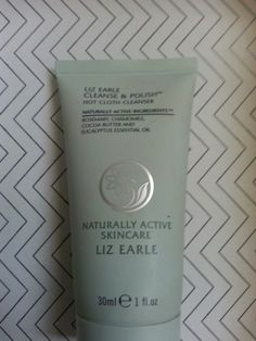 Liz Earle cleanse and polish sample