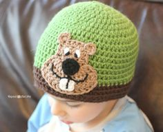 Groundhog Crochet Applique Pattern from @Sarah Chintomby Chintomby Chintomby @ Repeat Crafter Me