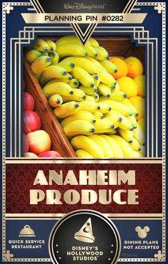 Walt Disney World Planning Pins: Anaheim Produce