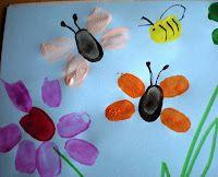 butterflies, a bugs life crafts, art, fingerprints, bug life