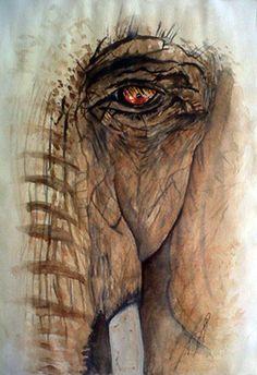 Saatchi Online Artist Paula Steffensen; Painting, Window I Elephant. #art