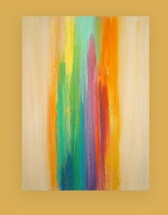Art Acrylic Abstract Painting Original Canvas by OraBirenbaumArt, $346.50