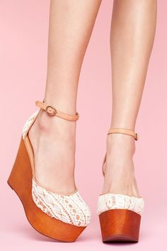 love crochet this spring, especially on something unexpected, like these jeffrey campbells