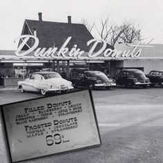 "1950 - Quincy, MA: William ""Bill"" Rosenberg opened his first Dunkin' Donuts shop.  He sold sweet cakes for just 5 cents a pop (a dozen donuts was 69 cents and coffee was just a dime.) By 1955, Rosenberg had five locations. Soon after, he licensed the brand."